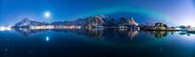 Polarlichter Am Himmel Von Norwegen