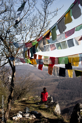 Tela Himalayan prayer flags in place of reverence from Slovakia