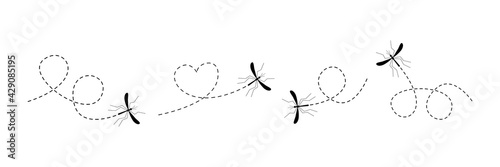 Mosquito icon set Fotobehang