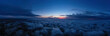 evening sunset sky panorama with some clouds. Panorama over clouds