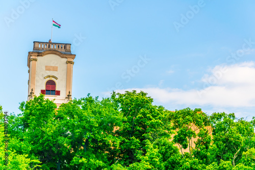 View of the bishop castle in the hungarian city gyor Fototapeta