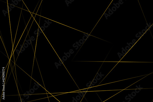 Abstract black with gold lines, triangles background modern design. Vector illustration EPS 10. - fototapety na wymiar