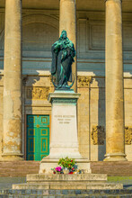 View Of A Statue Situated In Front Of The Basilica In Esztergom, Hungary