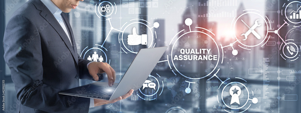 Fototapeta Quality Assurance ISO DIN Service Guarantee Standard Retail Concept