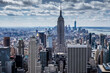 New York City in the USA in the daytime under a cloudy sky