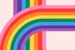 Leinwandbild Motiv Rainbow LGBTQ pride month background