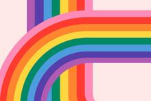 Rainbow LGBTQ Pride Month Background