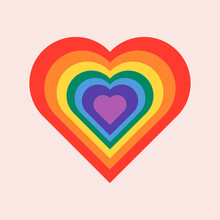 Rainbow Heart For LGBTQ Pride Month Concept