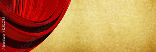 Fotografie, Obraz red curtain background