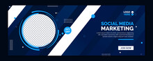Social Media Marketing Web Banner, Digital Marketing Cover Banner, Business Promotion Banner, Advertising Banner Design