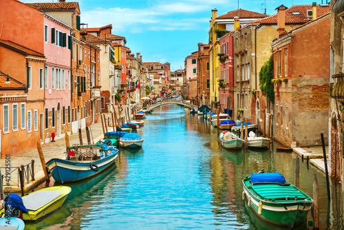 Obraz na plátně Grand Canal Basilica Santa Maria Della Salute Sunny Day Venice Italy