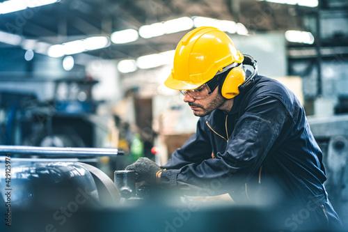 Industrial Engineers in Hard Hats Fototapeta