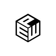 EWP Letter Logo Design With White Background In Illustrator, Vector Logo Modern Alphabet Font Overlap Style. Calligraphy Designs For Logo, Poster, Invitation, Etc.