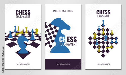 Fotografering Vector illustration about chess tournament, match, game