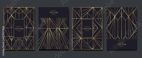Fotografie, Obraz Gold and Luxury Invitation card design vector