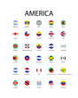 National flag in America, Vector circle design.