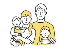 子育て世帯の家族の形のイメージイラスト素材