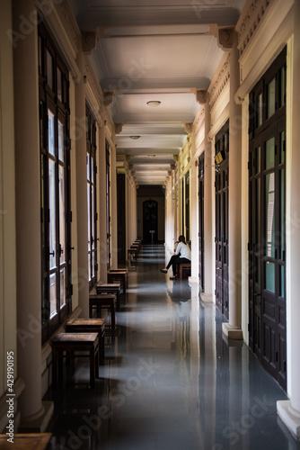 Canvas hallway