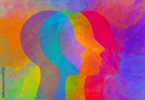Fototapeta Disegno grafico arcobaleno questioni sociali. obraz