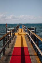 Bridge On Water With Colored Floor