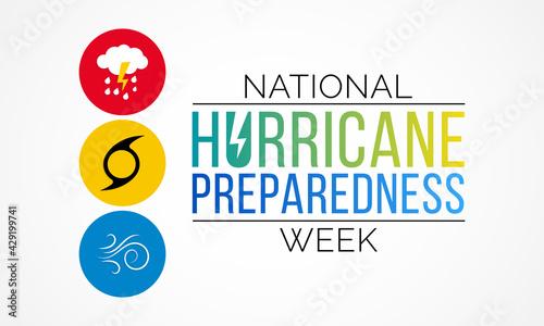 Fotografia Hurricane preparedness week is observed every year in May