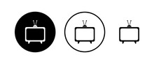 TV Vector Icons Set. Television Icon