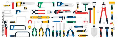 Obraz na plátně Large collection of construction tools