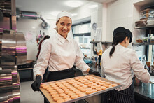 Enthusiastic Confectioner Doing Her Job With Passion And Dedication