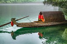 Beautiful Shot Of A Fishing Boat Docked On A Port In Hunan, China