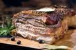 boczek, jedzenie, posiłek, obiad, gril, dania, barbecue, wieprzowina, palona, piec, gotowanie, smażone, delikatesowy, lunch, przepyszny, knajpa, pieczone