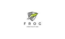 Frog Jump Logo Vector Design
