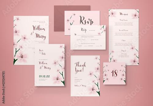 Obraz Wedding Invitation Set - fototapety do salonu