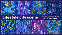 The Lifestyle Set City People Background 3D Future Neon Ultraviolet