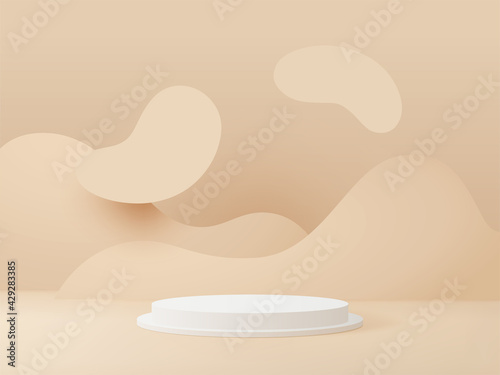 Foto 3D rendered podium for your product showcase