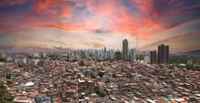 Favela And Buildings Urban Social Contrast