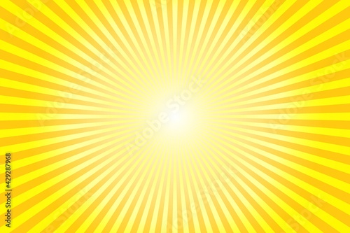 Slika na platnu Abstract background with sun ray. Summer vector illustration