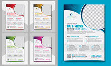 Stylish Modern Unique Corporate Business Flyer Leaflet Design Template A4 Paper Size