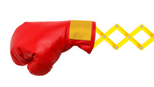 Red Boxing Glove Concertina Arm