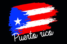 Puerto Rico Distressed Flag Vector