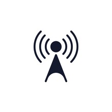 Wireless Access Point Flat Icon