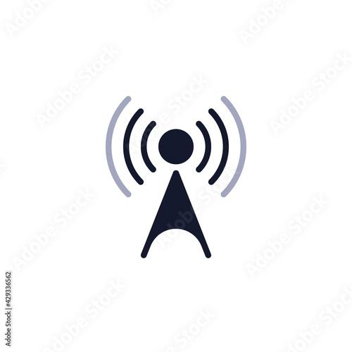 Fotografering Wifi antenna level flat icon