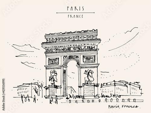 Canvas Print Paris, France