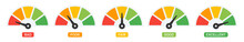 Set Of Credit Banking Score Indicators Icon Vector Illustration. Financial Concept.
