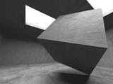 Abstract architecture background. Empty rough concrete interior