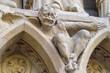 canvas print picture - Architectural details of Cathedral Notre Dame de Paris