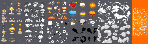 Fotografia, Obraz Smoke illustration set for special effects template