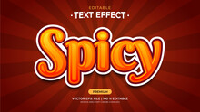 Text Effects, Editable Text Style - Spicy