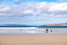 Sea Fishing On Narin Beach By Portnoo - Donegal, Ireland.