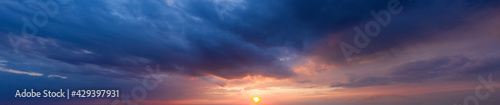 Beautiful cloud in the sunrise sky background. Sky banners background. Natural background of the colorful panorama sky. - fototapety na wymiar
