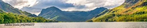 Fotografia, Obraz Buttermere lake panorama overlooking Haystacks peak in Lake District